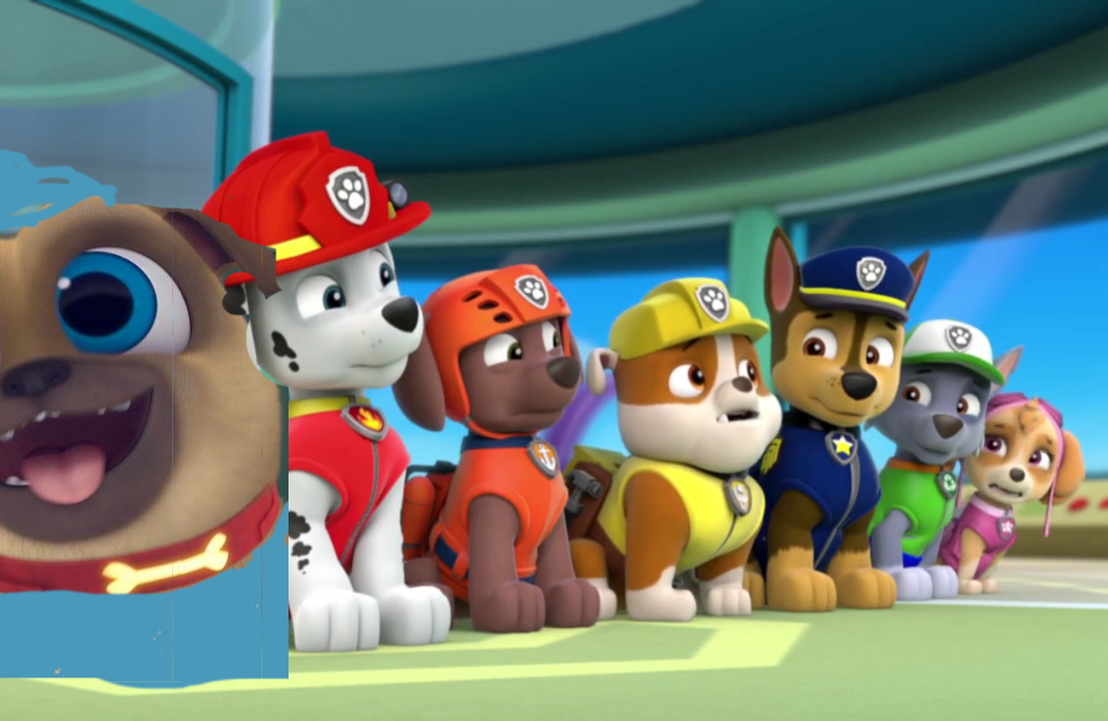 Rolly From Puppy Dog Pals Joins The Paw Patrol By