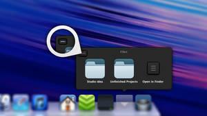 Mac OS X Dock Menu redesign v1.2