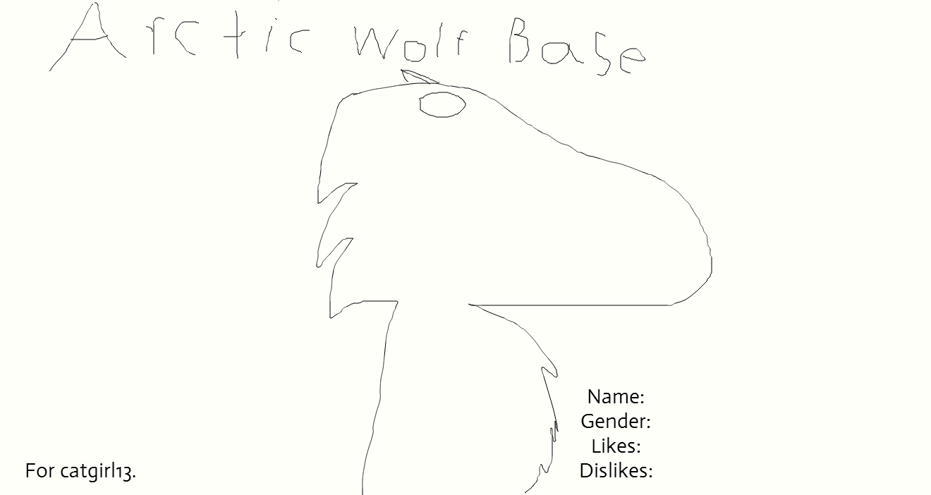 Free Arctic Wolf Base! by AJcomeback on DeviantArt