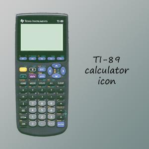 TI-89 Calculator Icon by 7hir7een