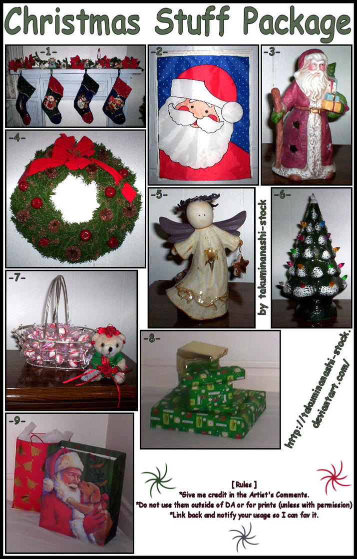 Christmas Stuff Package by takuminanashi-stock