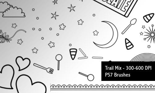 Trail Mix - PS7 Brushes by screentones