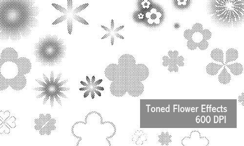 Flower Effects - 600 DPI by screentones