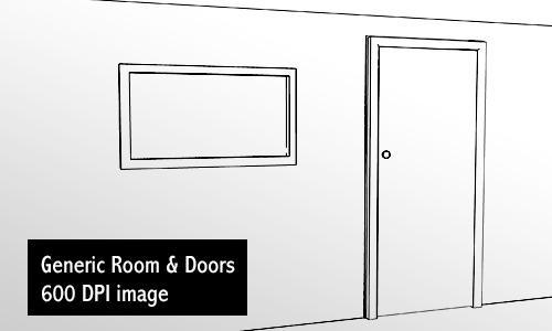 Generic Room and Doors by screentones