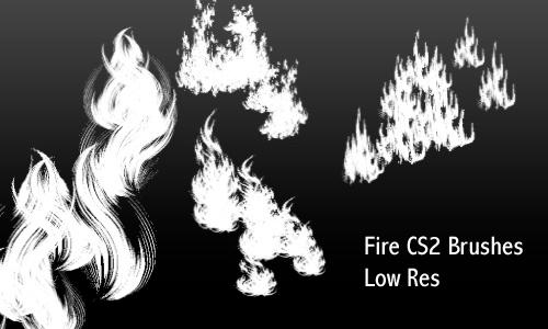 Fire - Low Res Brushes by screentones