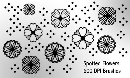 spotted flowers by screentones