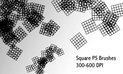 Squares - Ps Brush by screentones