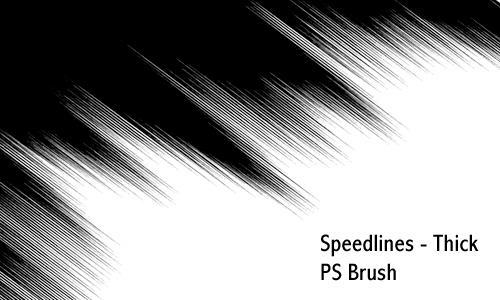 Speedlines thick - PS brush by screentones