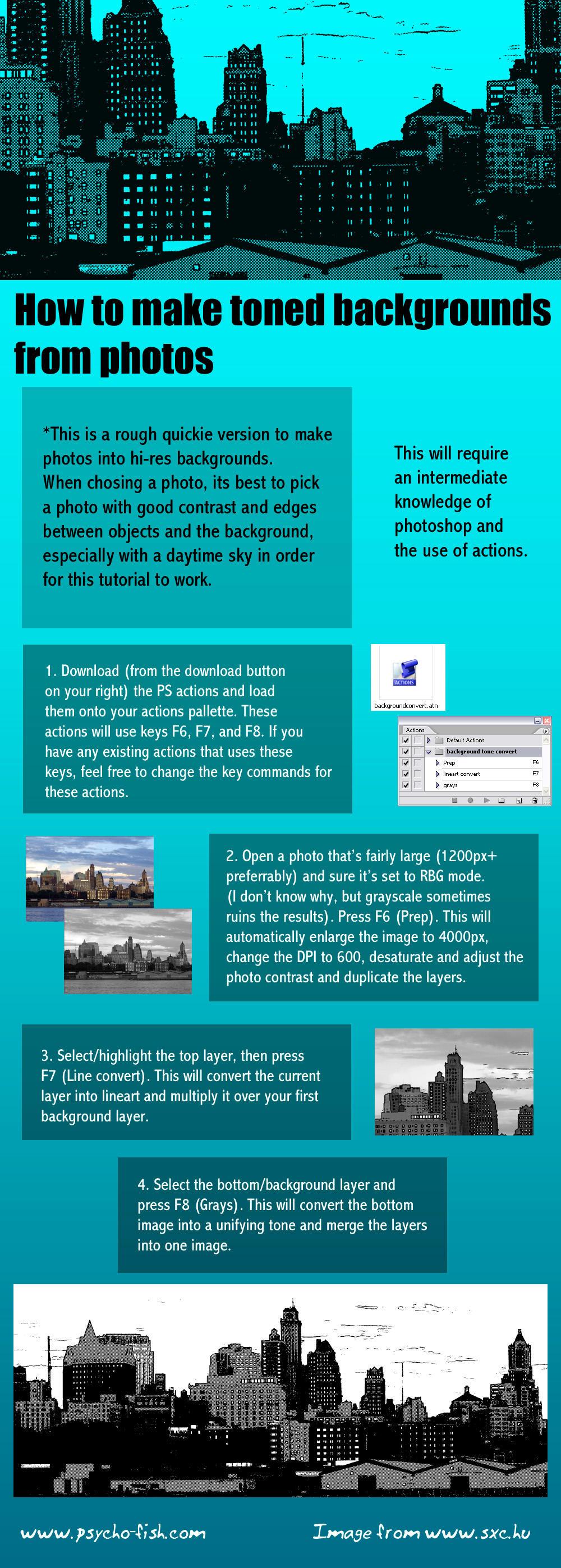 Convert Photos to Screentones by screentones