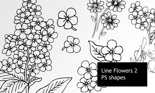Line Flowers 2 by screentones