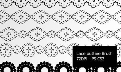 Lace outlines -PS brushes by screentones