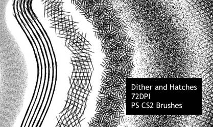Dither and Hatches - CS2 brushes