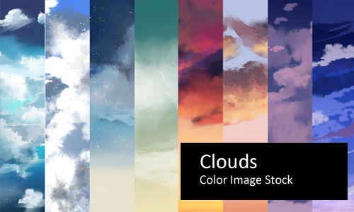 Clouds - Color Stock by screentones