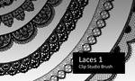 Laces 1 - Clip Studio Brushes by screentones
