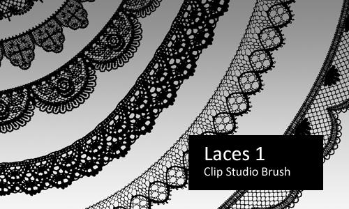 Laces 1 - Clip Studio Brushes by screentones