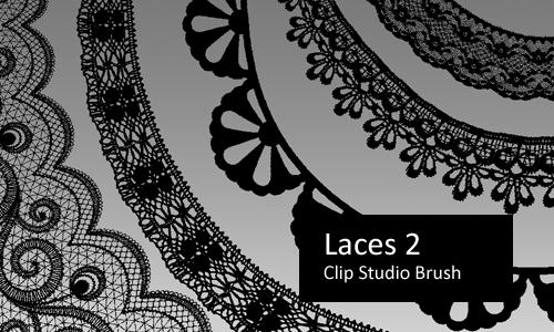 Laces 2 - Clip Studio Brushes by screentones