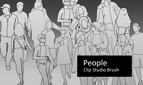 People by screentones