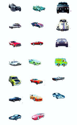famous car icons by puddlz