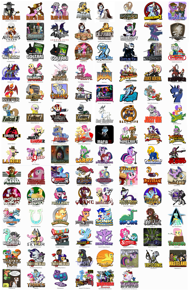 Ponified Game Icons by fancycat2008