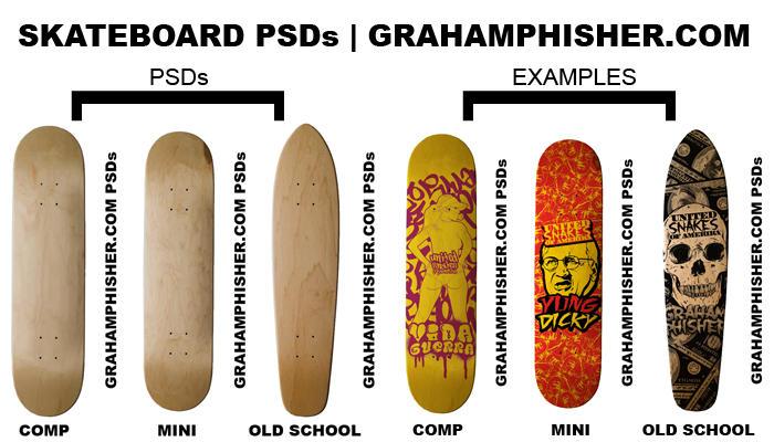 Skateboard PSDs by GrahamPhisherDotCom
