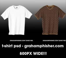 T-Shirt PSD by GrahamPhisherDotCom