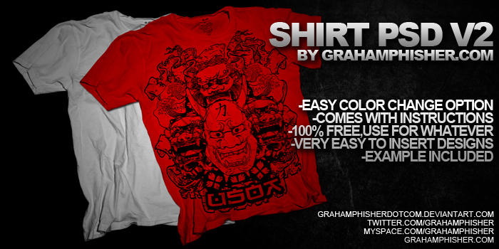 Shirt PSD V2 by GrahamPhisherDotCom