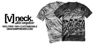 V Neck Shirt Template by GrahamPhisherDotCom