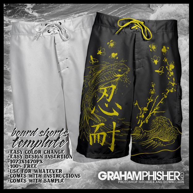 Board Shorts Template by GrahamPhisherDotCom