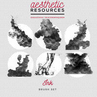 Ink Brush Set by aestheticrsc