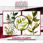 Golden Plants (PNG Pack)