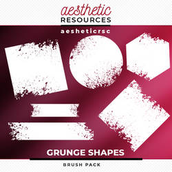 Grunge Shapes Brushes Pack by aestheticrsc