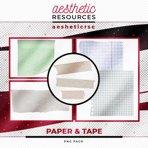 Paper And Tape Png Pack