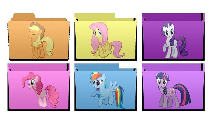mac style pony folders by rhubarb-leaf