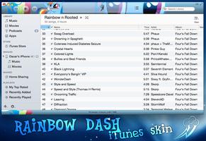 Rainbow dash skin for iTunes 11 by rhubarb-leaf