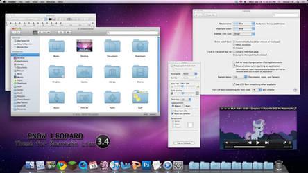 Snow Leopard Theme For Mountain Lion 3.4.2