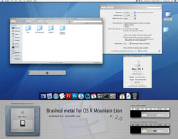 Brushed Tiger theme for Mountain lion v2.0