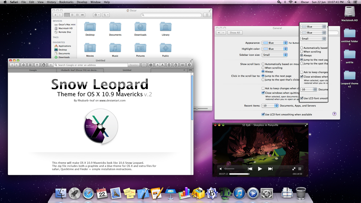 SnowLeopard theme v2 by rhubarb-leaf