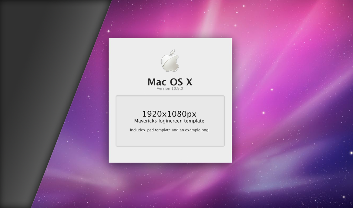 1920x1080 Mavericks loginscreen psd by rhubarb-leaf