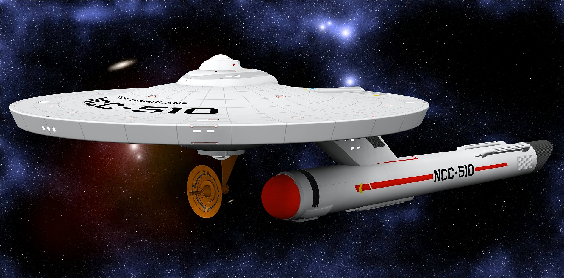 USS Tamerlane - OBJ version by Greywolf-Starkiller