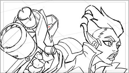 Battleborn Melka animation