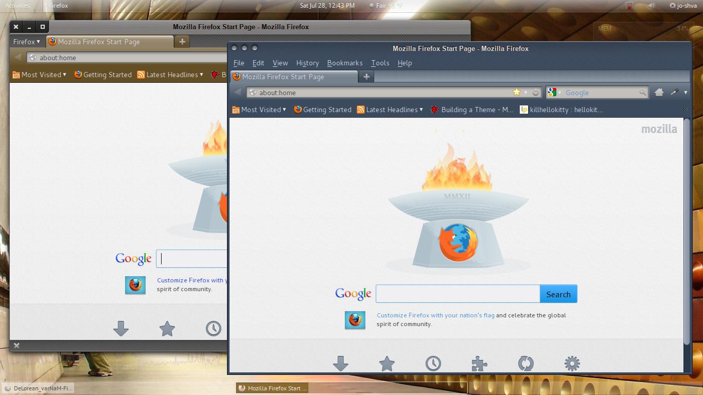 DeLorean and varNaM Firefox Theme 1.02