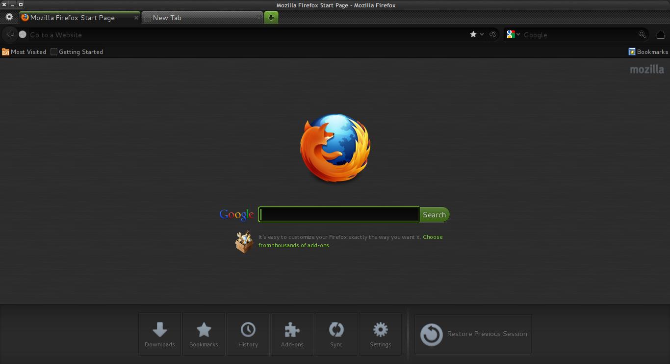 DeLorean-Dark-Theme-3.6-G - Firefox-Theme 1.0