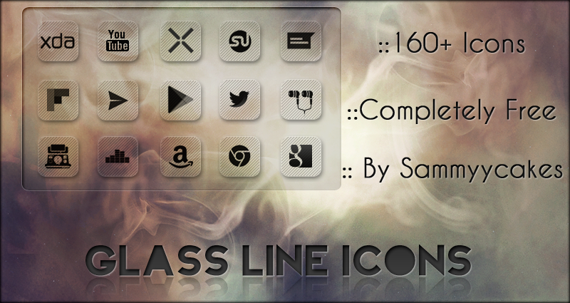 Glass Line Icons by sammyycakess