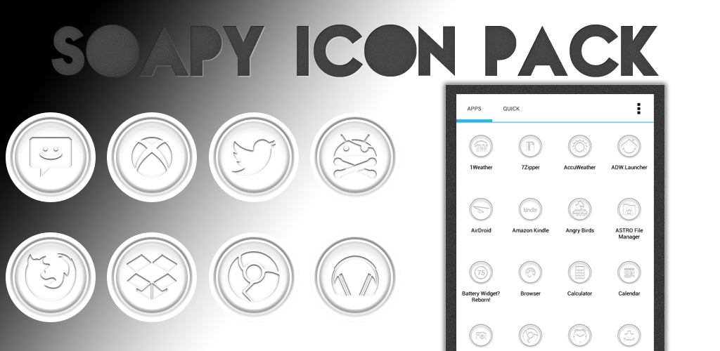 Soapy Icon Pack/Apex Theme by sammyycakess
