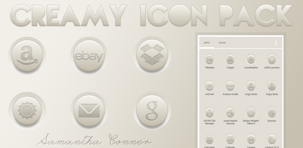 Creamy Icon Pack by sammyycakess
