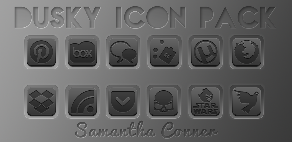 Dusky Icon Pack/Apex Theme by sammyycakess