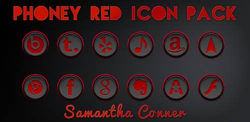 Phoney Red Icons/Theme by sammyycakess