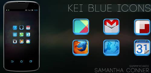 Kei Blue Icon Pack by sammyycakess
