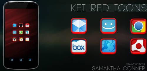 Kei Red Icon Pack by sammyycakess