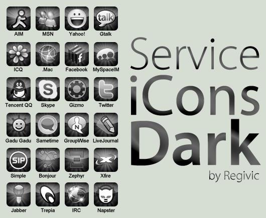 Service iCons Dark by Regivic